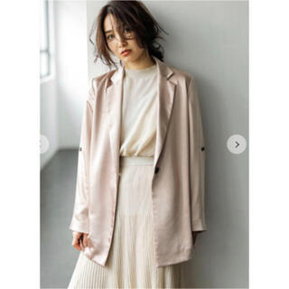 FRAY I.D - サテンジャケット フレイアイディー くすみピンク