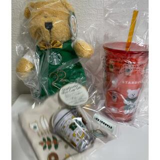 Starbucks Coffee - スタバ ベアリスタ ぬいぐるみ&タンブラー&カップギフト