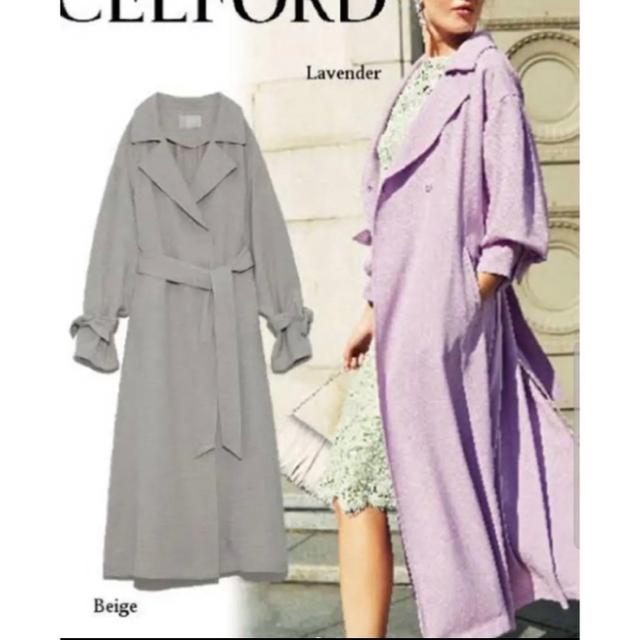 セルフォード/ CELFORD リネンライク トレンチコート レディースのジャケット/アウター(トレンチコート)の商品写真