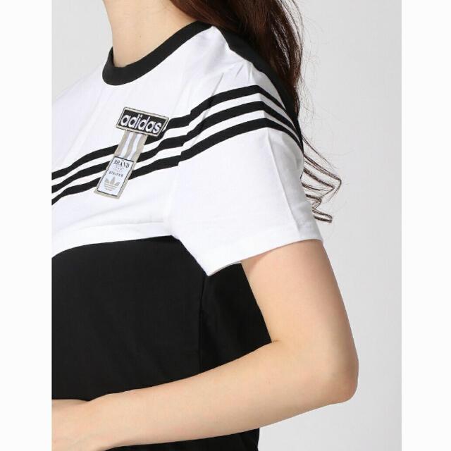 adidas(アディダス)のアディダス 新品 アディブレイク ブラック Tシャツ ワンピース 黒 ジャージ  レディースのトップス(Tシャツ(半袖/袖なし))の商品写真