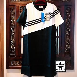 adidas - アディダス 新品 アディブレイク ブラック Tシャツ ワンピース 黒 ジャージ