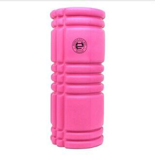ピンク フォームローラー/筋膜リリースローラー/33cm(ヨガ)