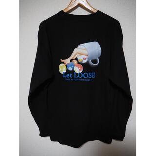 シュプリーム(Supreme)のLet Loose レットルース グラフィック ロンT ブラック サイズL(Tシャツ/カットソー(七分/長袖))
