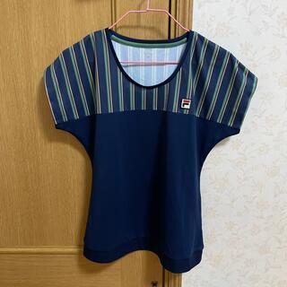 FILA - フィラ ゲームシャツ ネイビー L