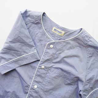 BEAMS BOY - BEAMS BOY  大人っぽいサックスブルーのベースボールシャツ