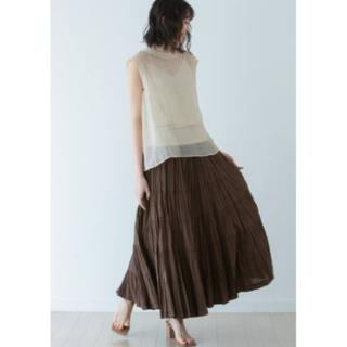 ノーブル(Noble)の新品タグ付【MARIHA】草原の虹のスカート◆ブラウン(ロングスカート)
