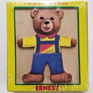 ヴィラック(vilac)のフランス木製玩具 Vilac (ヴィラック) クマさんの着せ替えパズル(その他)