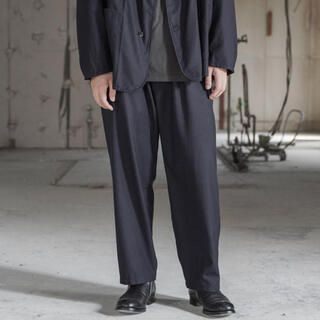 COMOLI - COMOLI  コモリ  ウールフラノドローストリングパンツ  20AWサイズ2