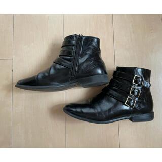 ザラキッズ(ZARA KIDS)の☆安値![zara  ザラキッズ]ショートブーツ 黒 22.5cm☆(ブーツ)