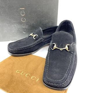 グッチ(Gucci)の【超美品】グッチ ホースビット スウェード ローファー モカシン 35ハーフ(ローファー/革靴)