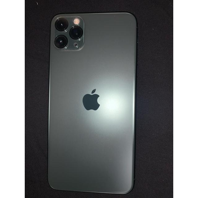 iPhone(アイフォーン)のiphone11proMAX 64GB ミッドナイトグリーン スマホ/家電/カメラのスマートフォン/携帯電話(スマートフォン本体)の商品写真