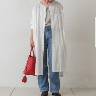 BEARDSLEY - 新品 ビアズリー ノーカラーオーバーサイズシャツワンピース
