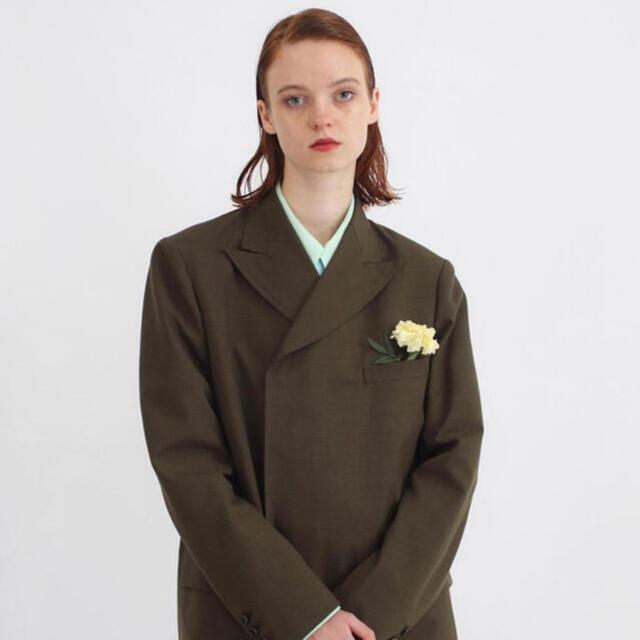 TTT MSW 21SS Double tailored jacket オリーブ メンズのジャケット/アウター(テーラードジャケット)の商品写真