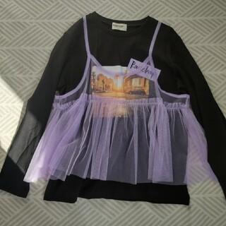 ブランシェス(Branshes)の150cm☆黒 ロンT☆RADCHAP(Tシャツ/カットソー)