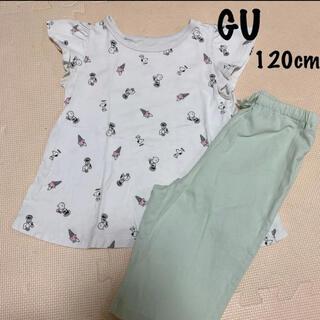 GU - GU:スヌーピー 半袖パジャマ 120cm