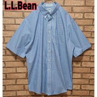 エルエルビーン(L.L.Bean)のL.L.Bean エルエルビーン ストライプ オーバーサイズ 半袖 シャツ(シャツ)
