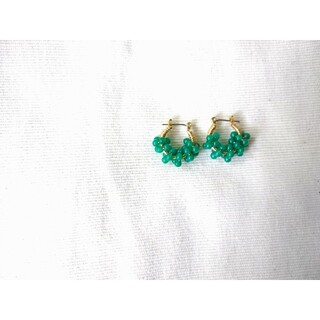 TODAYFUL - green agateピアス