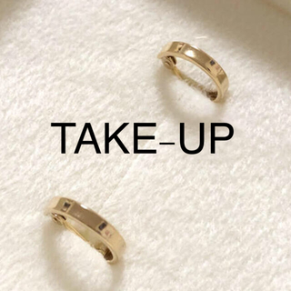 TAKE-UP - テイクアップ  k18 フープ ピアス 18金 10金 TAKE-UP