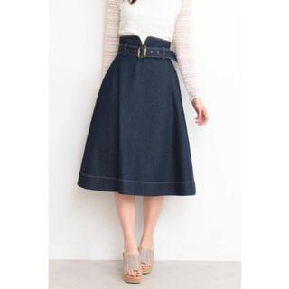 PROPORTION BODY DRESSING - デニムフレアスカート