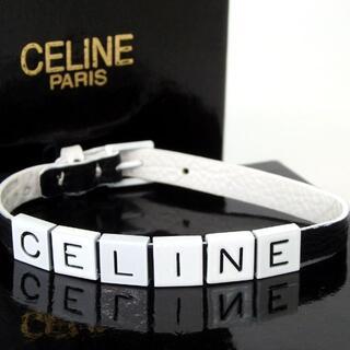 セリーヌ(celine)のCELINE セリーヌ ロゴ ブレスレット レザー/金属 28-442(ブレスレット/バングル)