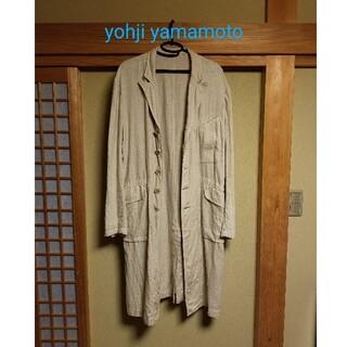 Yohji Yamamoto - yohjiyamamoto 17ss リネンロングジャケット