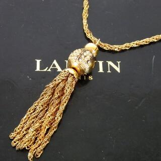 ランバン(LANVIN)のLANVIN ランバン フリンジ ネックレス メッキ 28-444(ネックレス)