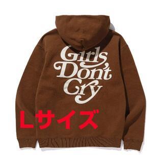 ジーディーシー(GDC)のGirls Don't Cry GDC パーカー フーディ ブラウン L(パーカー)