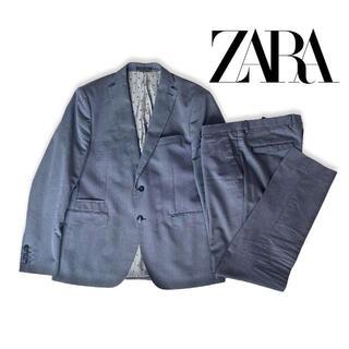 ザラ(ZARA)のZARA ザラ セットアップ スーツ ブルー ジャケット パンツ(セットアップ)