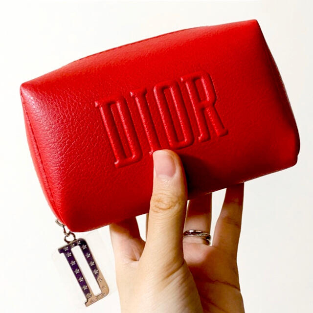 Dior(ディオール)のmiri 様 専用 ディオール ノベルティ スクエア ポーチ レッド  レディースのファッション小物(ポーチ)の商品写真