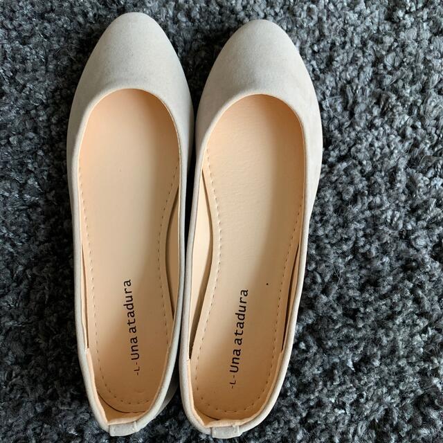 美品♡︎ʾʾスエードフラットシューズ Lサイズ レディースの靴/シューズ(スリッポン/モカシン)の商品写真