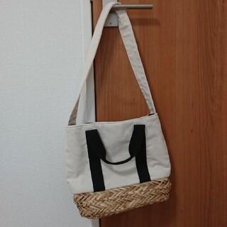 しまむら - 新品タグ付き☆しまむら購入☆キャンバス水草2wayバッグ