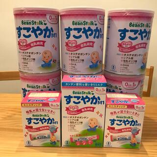 雪印メグミルク - ビーンスターク すこやかM1 800g【粉ミルク】x6 、スティックミルク