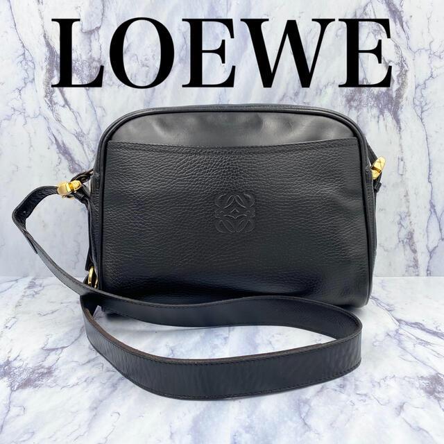 LOEWE(ロエベ)の【美品】希少 オールドロエベ★ヴィンテージ ショルダーバッグ 黒レザー レディースのバッグ(ショルダーバッグ)の商品写真