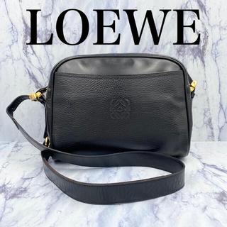 LOEWE - 【美品】希少 オールドロエベ★ヴィンテージ ショルダーバッグ 黒レザー