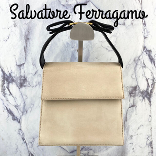 Salvatore Ferragamo - サルヴァトーレ フェラガモ★ヴィンテージ ヴァラ リボン ハンドバッグ ホワイト