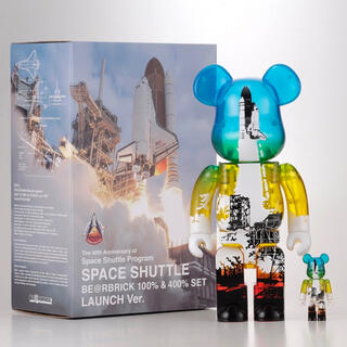 MEDICOM TOY - SPACE SHUTTLE BE@RBRICK LAUNCH 100% 400%