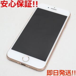 アイフォーン(iPhone)の美品 SIMロック解除済 SIMフリー iPhone8 64GB ゴールド (スマートフォン本体)