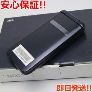 キョウセラ(京セラ)の新品 GRATINA KYF37 ブラック 本体 白ロム(携帯電話本体)