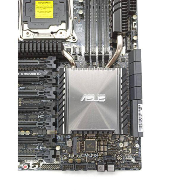 ASUS(エイスース)のマザーボードASUS X99-E WS/USB3.1 LGA2011-3 スマホ/家電/カメラのPC/タブレット(PCパーツ)の商品写真