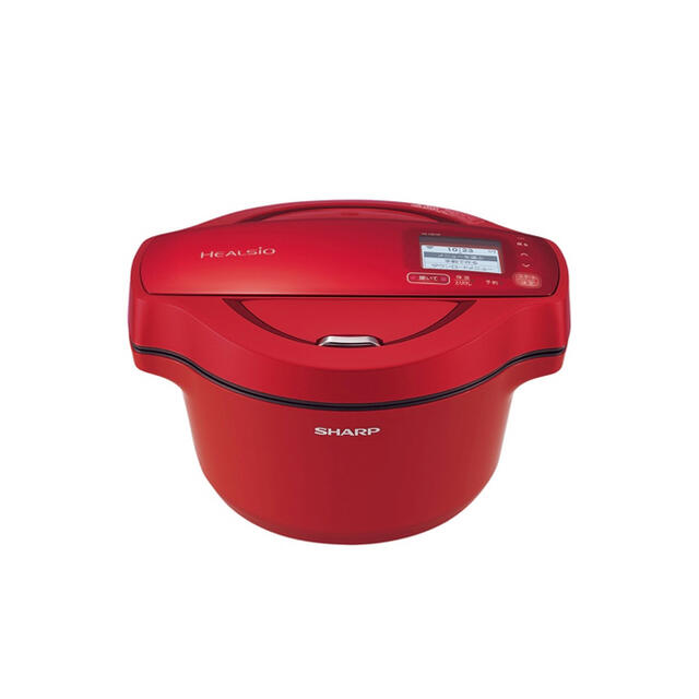 SHARP(シャープ)のシャープ  KN-HW16F-R [水なし自動調理鍋 1.6L レッド系] スマホ/家電/カメラの調理家電(調理機器)の商品写真