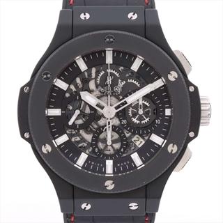 ウブロ(HUBLOT)のウブロ ビッグバン アエロバン SS×革   レディース 腕時計(腕時計)