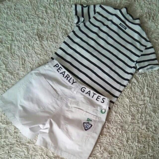 PEARLY GATES(パーリーゲイツ)の専用 パーリーゲイツ モックシャツ ショートパンツ スポーツ/アウトドアのゴルフ(ウエア)の商品写真