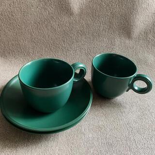 ザラホーム(ZARA HOME)のリンドスタイメスト フォレストグリーン カップ&ソーサー(食器)