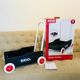 ブリオ(BRIO)のBRIO ブリオ 手押し車(黒)【箱付き】(手押し車/カタカタ)