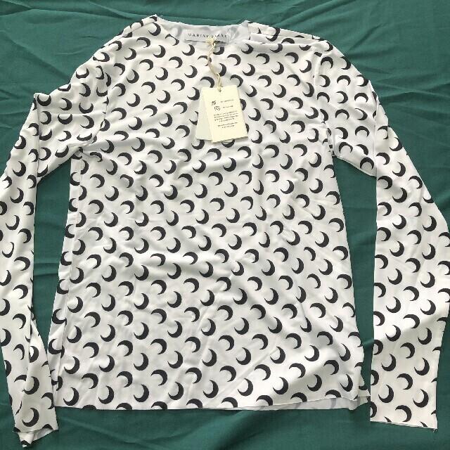 Maison Martin Margiela(マルタンマルジェラ)のMARINE SERRE MOON プリント トップ Tシャツ レディースのトップス(Tシャツ(長袖/七分))の商品写真