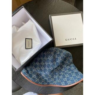 Gucci - GUCCI☆ロゴ GGジャカードキャンバス バケットハット