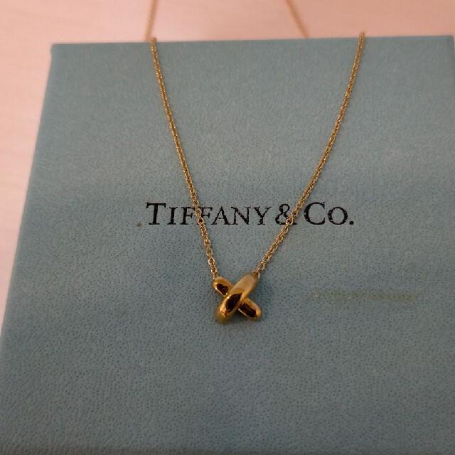 Tiffany & Co.(ティファニー)のティファニー クロスステッチネックレス k18 ゴールド Tiffany レディースのアクセサリー(ネックレス)の商品写真