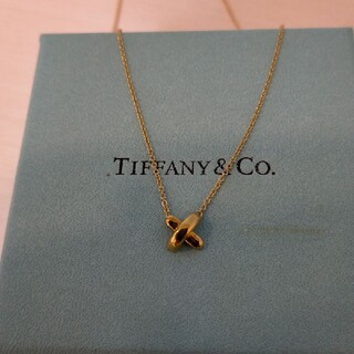 Tiffany & Co. - ティファニー クロスステッチネックレス k18 ゴールド Tiffany