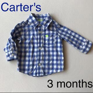 カーターズ(carter's)のカーターズ  ギンガムチェックシャツ 薄手 長袖シャツ 結婚式 百日祝い(シャツ/カットソー)