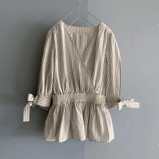 DRWCYS - DRWCYS 15,400円綿麻マルチストライプバルーンシャツ